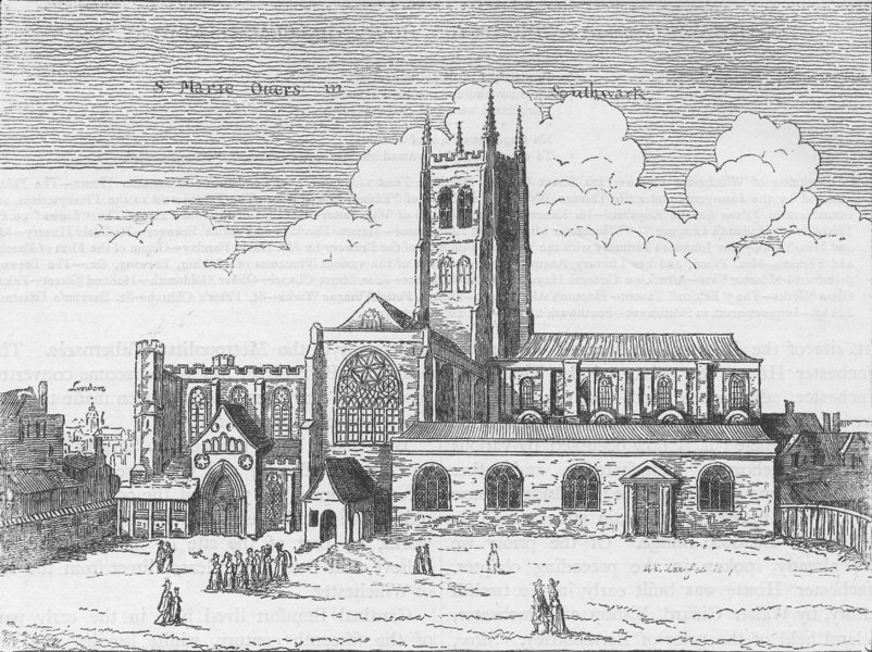 southwark-view-of-st-mary-overy-1647-old-print-c1880-54231-p